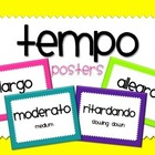 Tempo Vocabulary Posters
