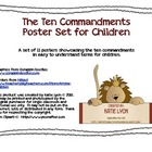 Ten Commandments Poster Set for Children