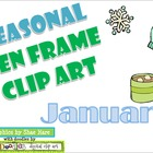 Ten Frame Clip Art *January* 0-10 snowflake mug mitten Com