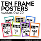 Ten Frame Number Cards 0-20 {White Series}