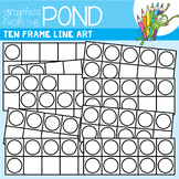 Ten Frames Color-In Clipart - Graphics From the Pond