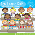Ten Frames Kids - Clipart for Teaching