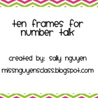 Ten Frames for Number Talk
