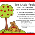 Ten Little Apples - set of emergent readers
