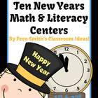 Ten New Years Math and Literacy Center