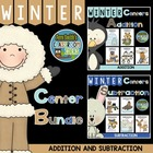 Ten Winter Addition and Subtraction Math Centers with Inte