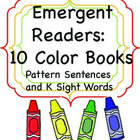 Ten Color Books: Emergent Readers with Sight Words