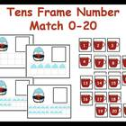 Tens Frame Number Match 0-20 Math Center - Penguin