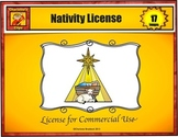Nativity Clip Art License for Commercial Use by Charlotte's Clips