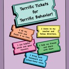 Terrific Tickets for Terrific Behavior