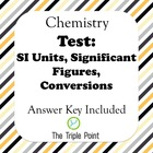 Test: An Intro to Chemistry (SI Units, unit conversion, si