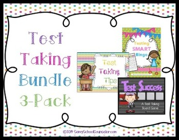 Test taking bundle 3 pack savvy school counselor