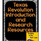 Texas Revolution Introduction and Research Resources with