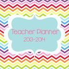 Texas Teacher & Lesson Planner Editable with TEKS {Chevron Chic}