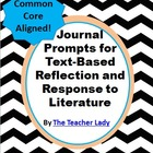 Text-Based Reflection and Response to Literature Prompts -