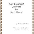 "Text Dependent Questions & Flashcards for ""My Lucky Day"""