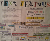 Text Features Anchor Chart and Common Core Reading Strateg