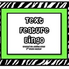 Text Features BINGO (Zebra)