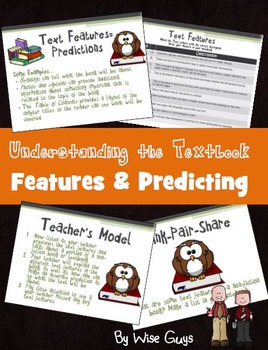 Text Features and Making Predictions Reading Strategy PowerPoint