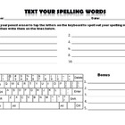 Text Spelling Words