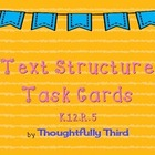 Text Structure Task Cards by Thoughtfully Third
