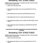 Text structure review writing activity