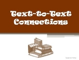 Text to Text Connections Reading Strategy PowerPoint