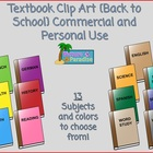 Textbook Clip Art {Back to School} Commercial and Personal Use
