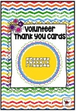 Thank You Cards for Volunteers Freebie (Editable/Customizable)