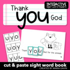 "Interactive Sight Word Reader ""Thank YOU God"""