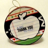 """Thank You"" Teacher Gift Ornament"
