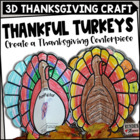 Thankful Turkeys - A Thanksgiving Craftivity