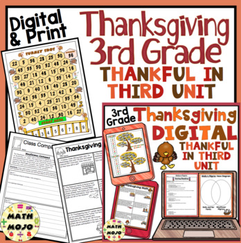 Thanksgiving Unit: Thankful in Third - 3rd Grade