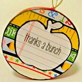 """Thanks A Bunch"" Teacher Ornament"