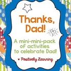 Thanks, Dad! Mini-Pack of Activities