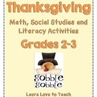Thanksgiving 2nd and 3rd Grade Unit