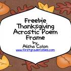 Thanksgiving Acrostic Poem Frame