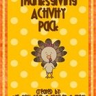 Thanksgiving Activity Pack Special!