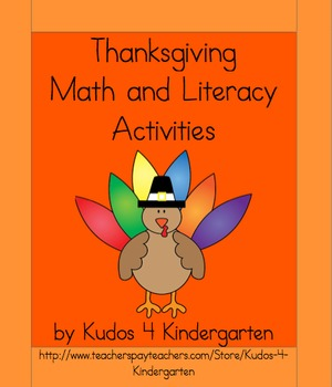 Thanksgiving Activity Packet (Math and Literacy)