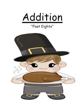 Thanksgiving Addition Fast Eights Center Game for Common Core