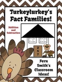 Thanksgiving Addition and Subtraction Fact Families Center