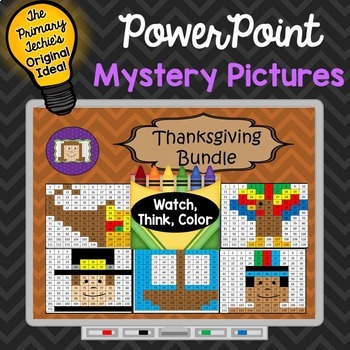 Thanksgiving Bundle Watch, Think, Color Games - EXPANDING BUNDLE