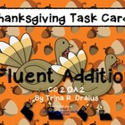 Thanksgiving Common Core Task Cards 2.OA.2 (Fluent Additio