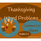 Thanksgiving Common Core Word Problems