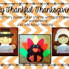 Thanksgiving Craftivity - { writing printables and crafts }