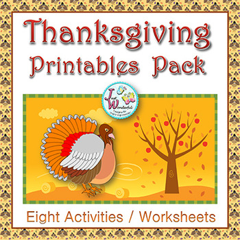 Thanksgiving Day Printables Pack - Holiday Activities for 2nd and 3rd Grade CCSS