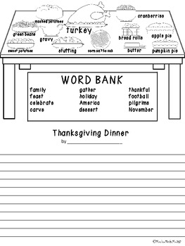 Thanksgiving Dinner Creative Writing-FREEBIE