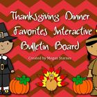 Thanksgiving Dinner Favorites Interactive Bulletin Board