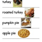 Thanksgiving Dinner Word & Picture Cards