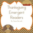 4 Thanksgiving Emergent Readers